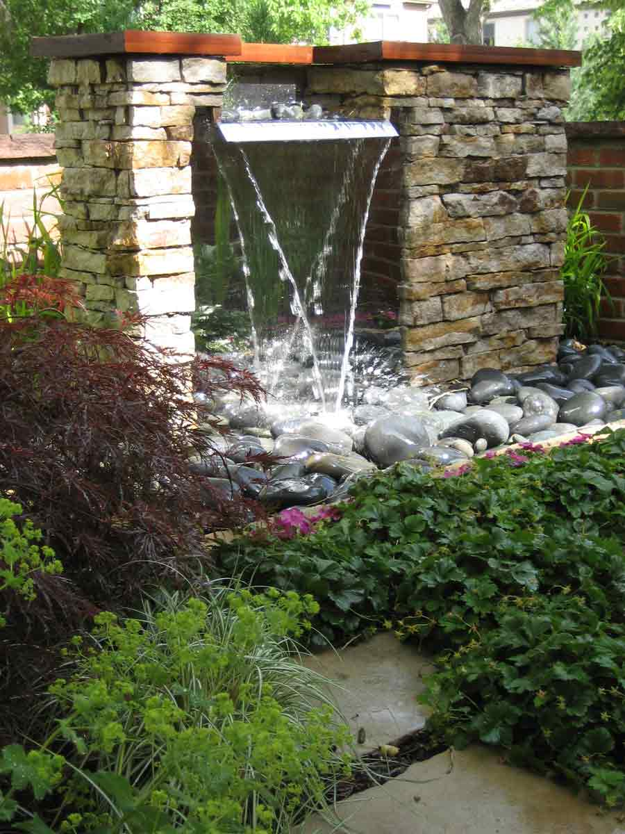 Water features by stonegate gardens of denver colorado - Fuentes de piedra ...